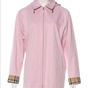 Burberry pink House Check hooded jacket